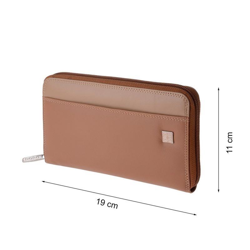 6fa252ea83549 Skórzany portfel damski typu saszetka marki DuDu®