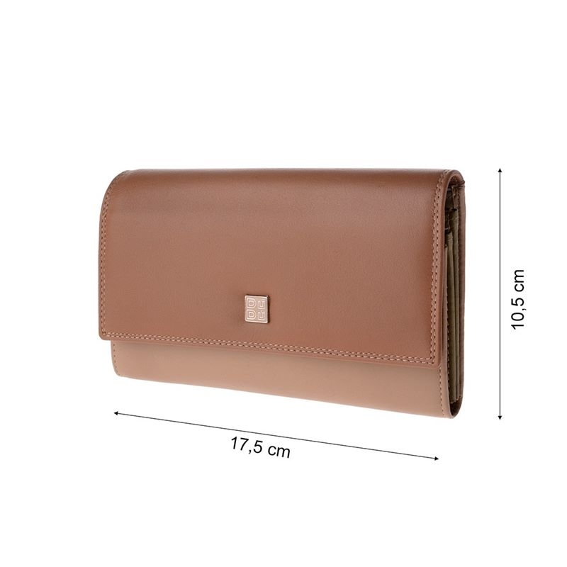 968267d089f06 Skórzany portfel damski marki DuDu®, beżowy, oliwkowy + inne