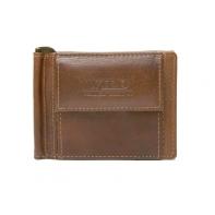 Portfel męski typu banknotówka Wild ze skóry brązowy
