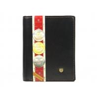 Pionowy skórzany portfel męski marki Peterson, brązowy