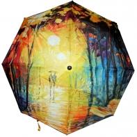 Długa automatyczna parasolka z serii malarstwo: jesienny deszcz