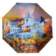 Długa automatyczna parasolka z serii malarstwo: jesienny Paryż