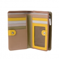 Skórzany portfel damski marki DuDu®, beżowy, oliwkowy + inne