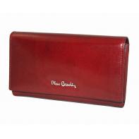 Klasyczny damski portfel Pierre Cardin czerwony