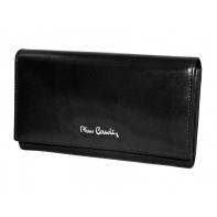 Klasyczny damski portfel Pierre Cardin czarny