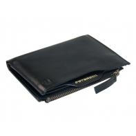 Cienki portfel męski marki Peterson z wkładką, czarny