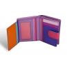 Kolorowy niewielki portfel damski Valentini, fioletowy, różowy + inne