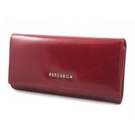 Długi portfel damski Peterson, czerwony