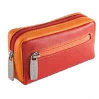 Etui na klucze sakiewka marki DuDu®, czerwony + pomarańczowy