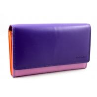 Kolorowy portfel damski Valentini, fioletowy, różowy+ inne