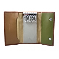Etui na klucze marki DuDu®, beżowy, oliwkowy + inne