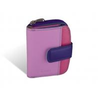 Maleńki kolorowy portfel damski Valentini, fioletowy