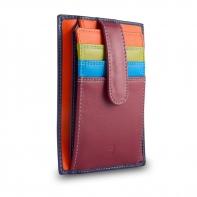 Skórzany portfel saszetka marki DuDu®, fioletowy, pomarańczowy + inne