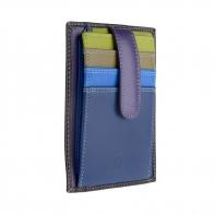 Skórzany portfel na karty marki DuDu®, granatowy, czarny + inne
