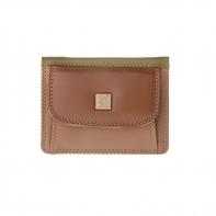Skórzany mały portfel damski marki DuDu®, beżowy, oliwkowy + inne
