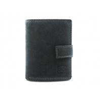 Super wyposażony portfel męski Always Wild N4L ze skóry nubukowej z zapięciem- ciemno szary