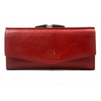 Długi damski portfel Wittchen 21-1-079, kolekcja Italy, czerwony