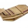 Pionowy portfel męski Always Wild ze skóry nubukowej z zapięciem - ciemny brąz