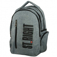 Trzykomorowy plecak szkolny St.Right 34 L, Melange