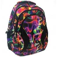 Trzykomorowy plecak szkolny St.Right 29 L, Electro