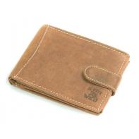 Męski portfel Always Wild ze skóry nubukowej - jasny brąz