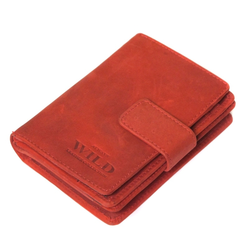 57cba81c28340 Praktyczny portfel męski Always Wild ze skóry nubukowej z zapięciem w  kolorze czarnym