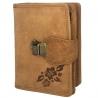 Super praktyczny portfel Always Wild ze skóry nubukowej, beżowy