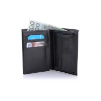 Klasyczny męski skórzany portfel Orsatti M10A czarny