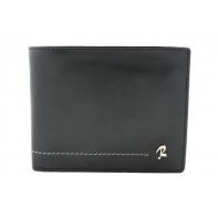 Skórzany męski portfel Rovicky w kolorze czarnym