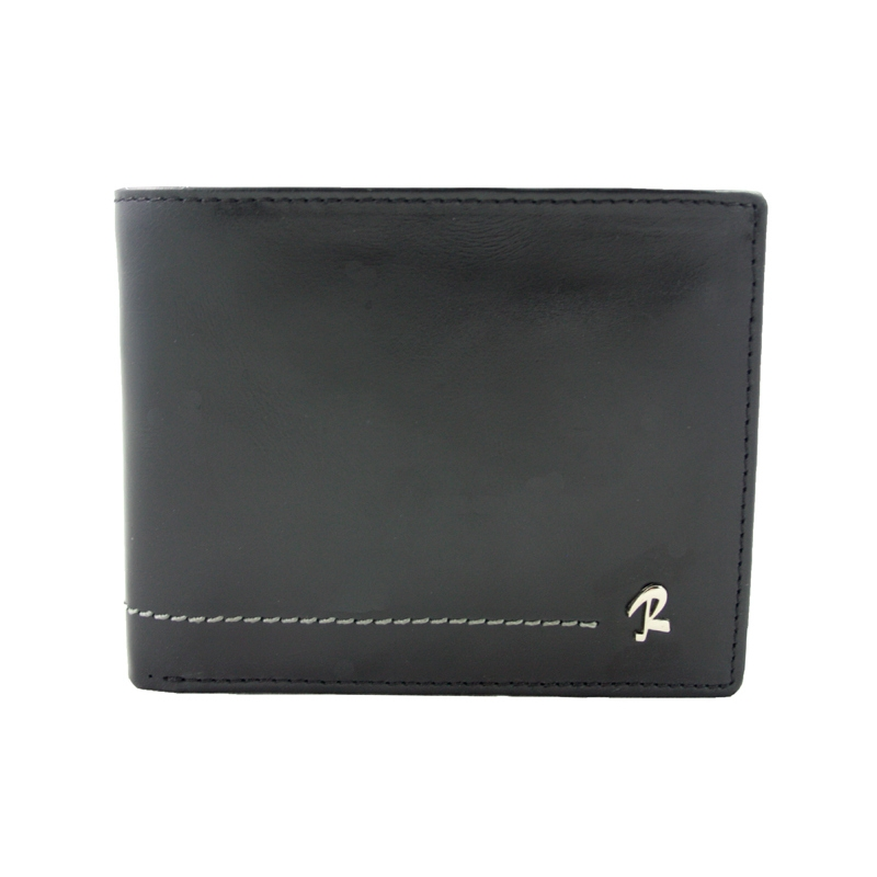 44866f6abfd9 Skórzany portfel męski Rovicky w kolorze czarnym