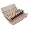 Długi klasyczny portfel typu kopertówka z eko skóry, czarny