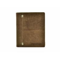 Pionowy portfel męski marki Peterson, brązowy, skóra