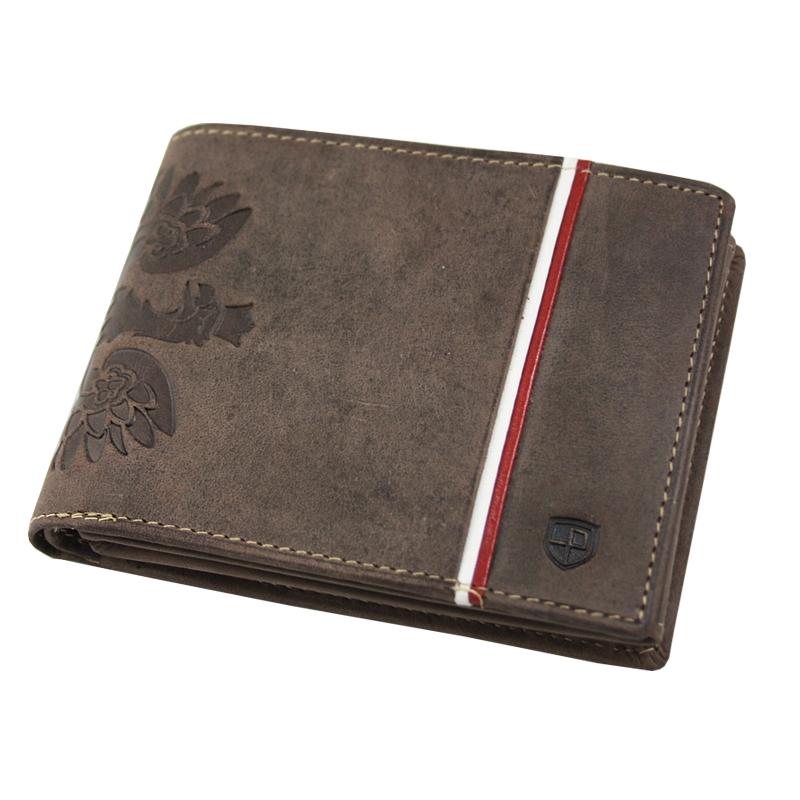 1b2e6c7dff056 Poziomy portfel męski marki Peterson
