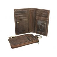 Dwuczęściowy portfel męski marki Peterson, brązowy, skóra