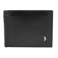 Męski poziomy portfel Puccini MU 20438 w kolorze czarnym