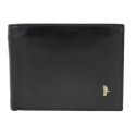 Męski poziomy portfel Puccini MU 20438 w kolorze czarnym z bogatym wyposażeniem