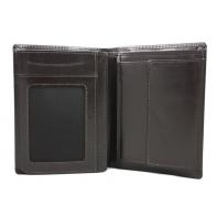 Skórzany klasyczny portfel polskiej marki Revio, brązowy