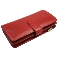Skórzany damski portfel Wittchen 21-1-028, czerwony - kolekcja Italy