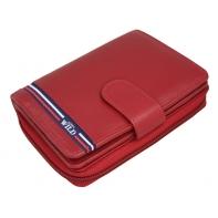 Skórzany damski portfel Always Wild, czerwony