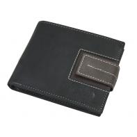 Męski portfel Always Wild ze skóry nubukowej - czarny