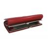 Skórzany elegancki portfel damski Harvey Miller, czerwony