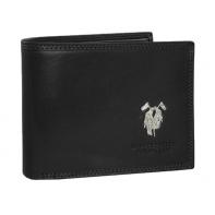 Skórzany elegancki portfel Harvey Miller, czarny