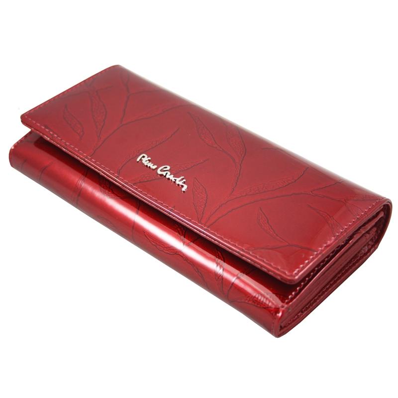 73b688848a6f3 Lakierowany skórzany portfel damski Pierre Cardin, czerwony