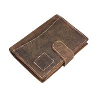 Pionowy portfel męski Always Wild ze skóry nubukowej, brązowy