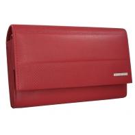 Skórzany elegancki portfel damski Valentini, czerwony