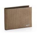 Męski poziomy skórzany portfel Valentini, RFID, brązowy
