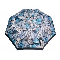 Automatyczna parasolka damska marki Parasol, niebieska w kwiaty