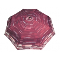 Automatyczna parasolka damska marki Parasol, bordowa w pasy