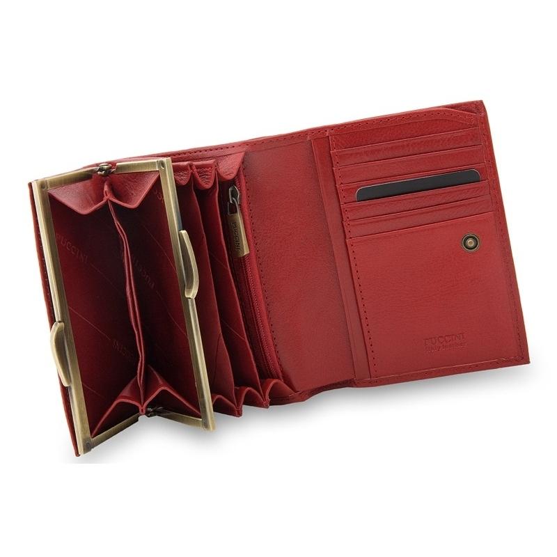 124eee698961c Portfel damski Puccini MU1709 w kolorze czerwonym
