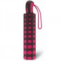 Mocna automatyczna parasolka Esprit, w różowe kółka